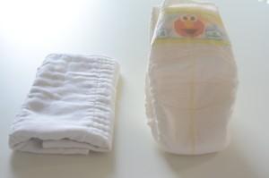 cotton diaper and cloth
