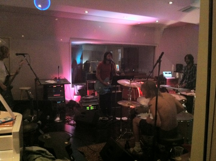 Dave Grohl and Rami Jaffee at Fonogenic Studios - photo courtesy of Fonogenic
