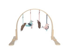 Finn + Emma Organic Cotton Baby Girl Wood Play Gym