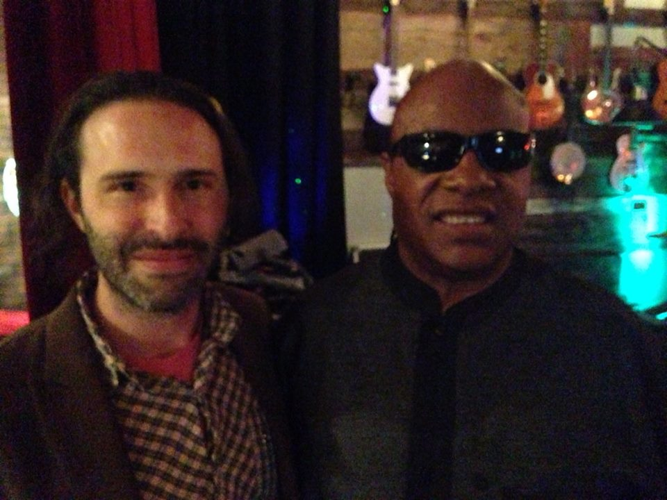 Stevie Wonder at Fonogenic Studios with Ran Pink | photo courtesy of Fonogenic
