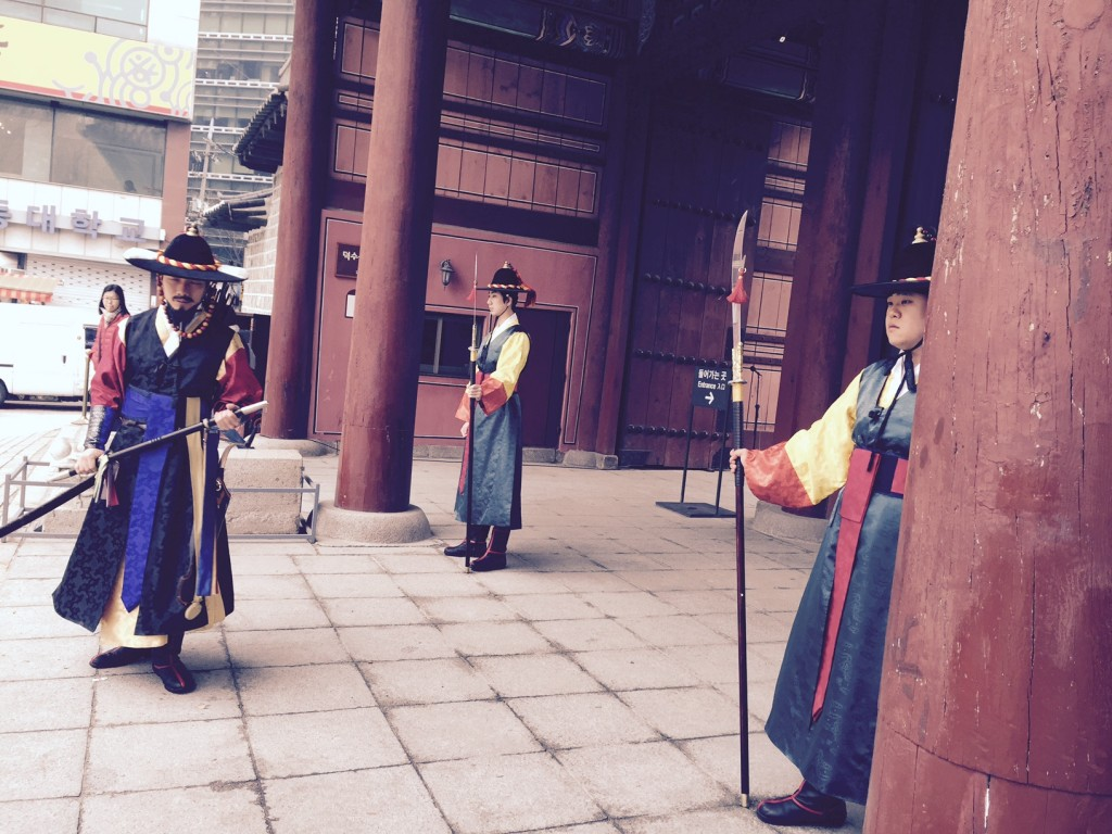 Deoksugung Palace guards