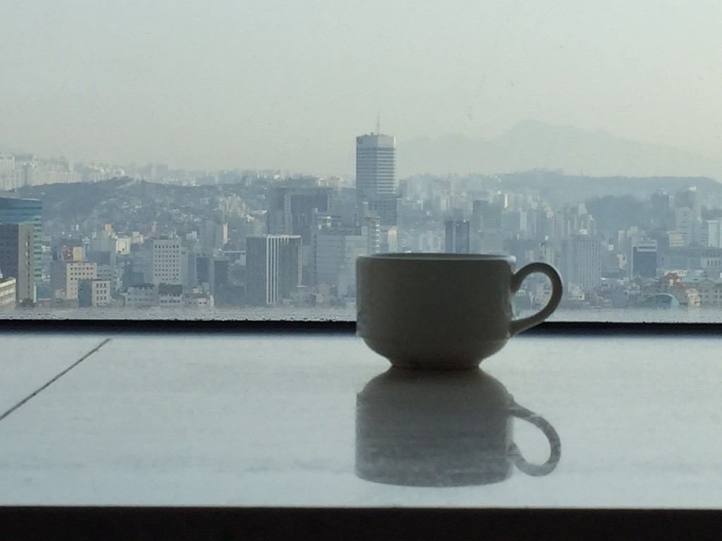 SEOUL KOREA TRAVEL BLOG | Morning view from the hotel room.