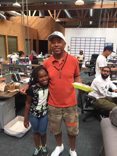 Kiara and Russell Simmons