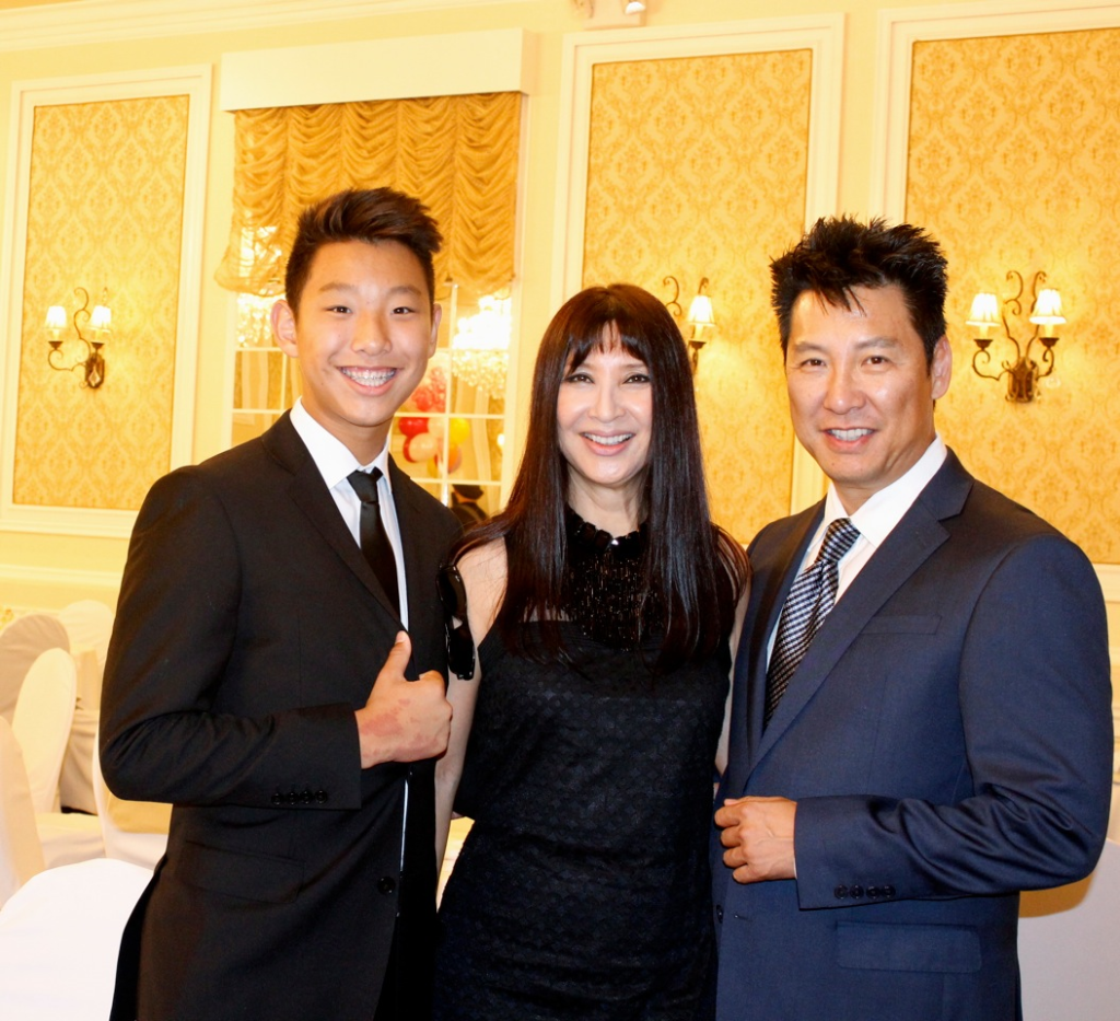 Master Phillip Rhee, wife Amy and son Sean