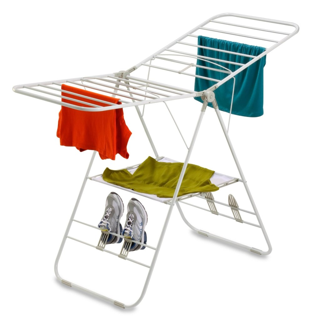 Buy clothes drying racks.