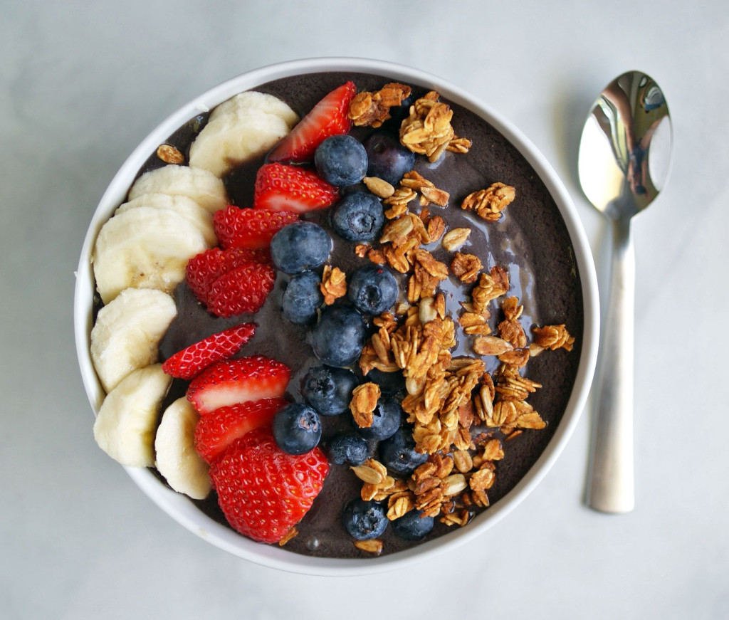 Acai Bowl with fruits and nuts one of the easy ways to save the planet