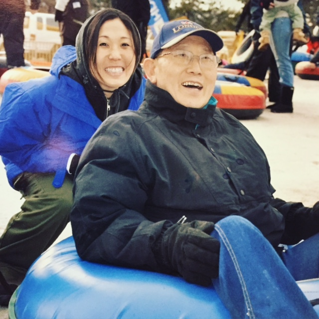 DEALING WITH LOSS - We went tubing while he was undergoing chemo. Typical for him.