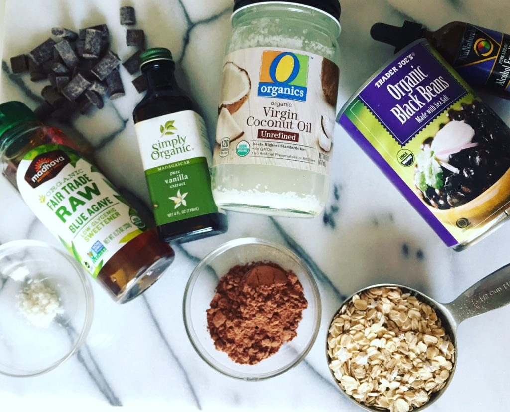 GLUTEN-FREE BLACK BEAN BROWNIES ingredients