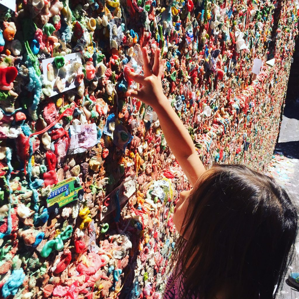 THE INFAMOUS GUM WALL DOWNSTAIRS