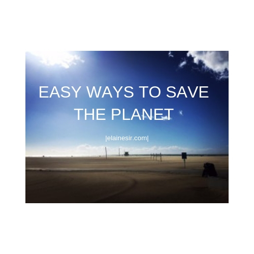 EASY WAYS TO SAVE THE PLANET