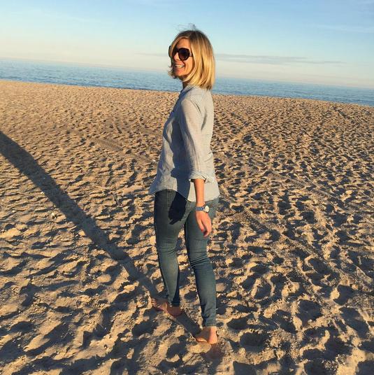 Debra Bednar-Clark walking in the shore for how to change careers