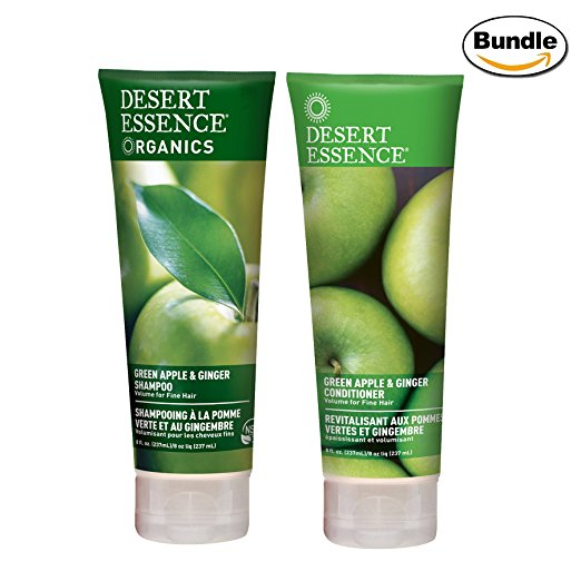 Desert Essence Organics Shampoo Green Apple and Ginger -- 8 fl oz