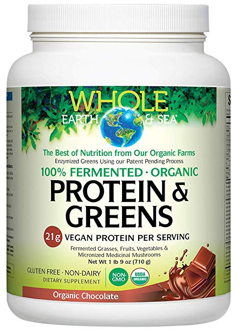 NATURAL FACTORS FERMENTED ORGANIC PROTEIN & GREENS