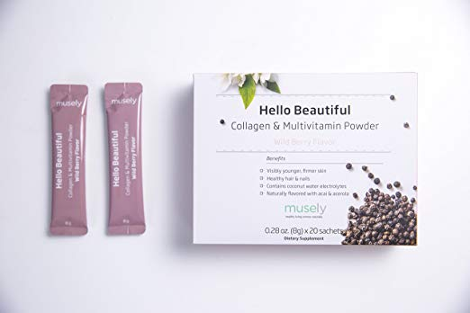 Musely's Hello Beautiful Collagen Powder.
