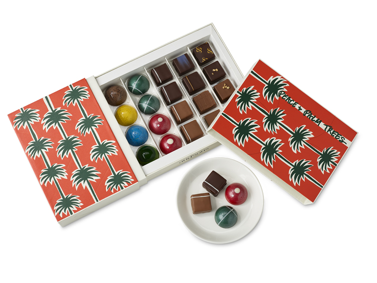 PEACE + PALM TREE HOLIDAY BOX BY andSONS CHOCOLATIERS