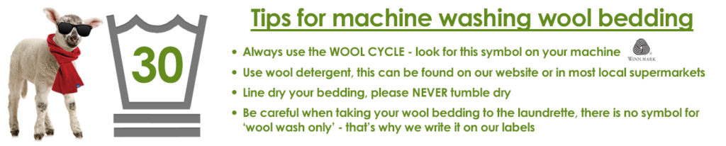 wool bedding washing tips