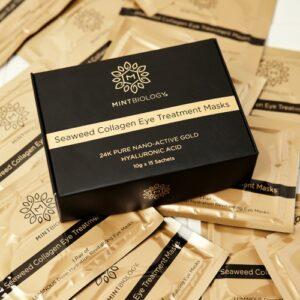 Mintbiology Seaweed Collagen Gold Eye Mask from Alltrue subscription box